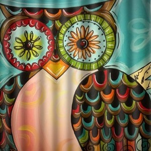 Owl shower curtains thumbnail