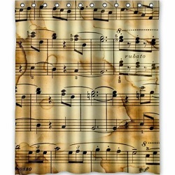 music themed shower curtain