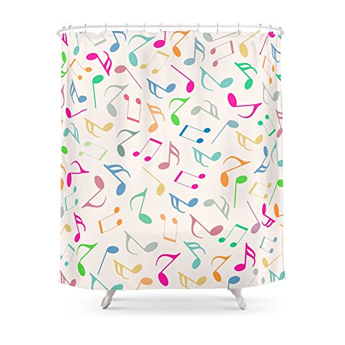 colorful music notes shower curtain - Musical Shower Curtains