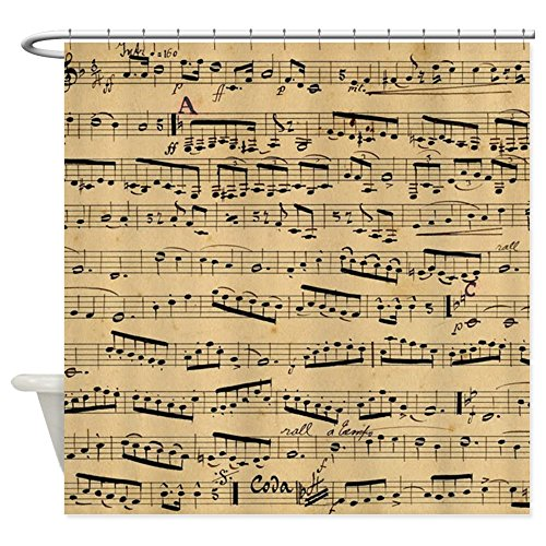 Vintage Sheet Music Design Shower Curtain